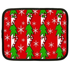 Christmas tree pattern - red Netbook Case (XXL)