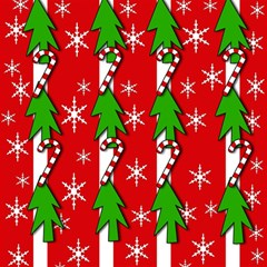 Christmas tree pattern - red Magic Photo Cubes