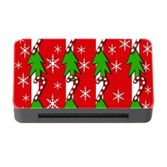 Christmas tree pattern - red Memory Card Reader with CF