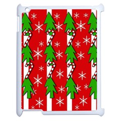 Christmas tree pattern - red Apple iPad 2 Case (White)