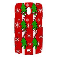 Christmas tree pattern - red Samsung Galaxy Nexus i9250 Hardshell Case