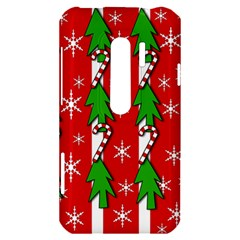 Christmas tree pattern - red HTC Evo 3D Hardshell Case