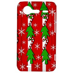 Christmas tree pattern - red HTC Incredible S Hardshell Case