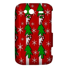 Christmas tree pattern - red HTC Wildfire S A510e Hardshell Case