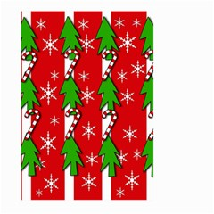 Christmas tree pattern - red Large Garden Flag (Two Sides)