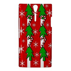 Christmas tree pattern - red Sony Xperia S