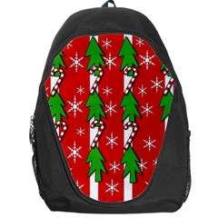 Christmas tree pattern - red Backpack Bag