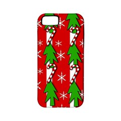 Christmas tree pattern - red Apple iPhone 5 Classic Hardshell Case (PC+Silicone)