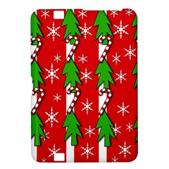 Christmas tree pattern - red Kindle Fire HD 8.9