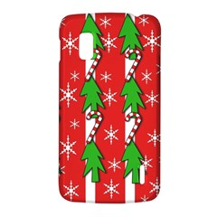 Christmas tree pattern - red LG Nexus 4