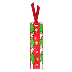 Christmas tree pattern - red Small Book Marks