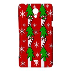 Christmas tree pattern - red Sony Xperia T