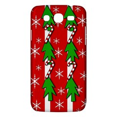 Christmas tree pattern - red Samsung Galaxy Mega 5.8 I9152 Hardshell Case