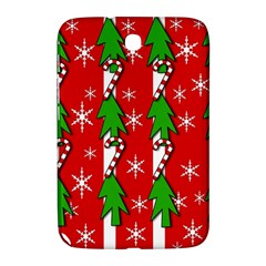 Christmas tree pattern - red Samsung Galaxy Note 8.0 N5100 Hardshell Case