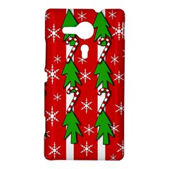 Christmas tree pattern - red Sony Xperia SP