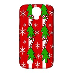 Christmas tree pattern - red Samsung Galaxy S4 Classic Hardshell Case (PC+Silicone)