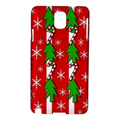 Christmas tree pattern - red Samsung Galaxy Note 3 N9005 Hardshell Case