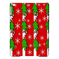 Christmas tree pattern - red iPad Air Hardshell Cases