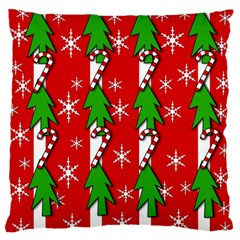 Christmas tree pattern - red Standard Flano Cushion Case (Two Sides)