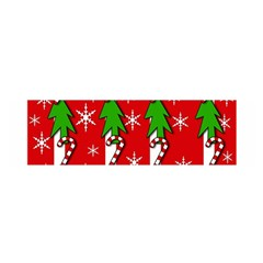 Christmas tree pattern - red Satin Scarf (Oblong)