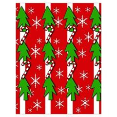 Christmas tree pattern - red Drawstring Bag (Large)