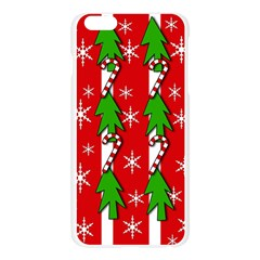 Christmas tree pattern - red Apple Seamless iPhone 6 Plus/6S Plus Case (Transparent)
