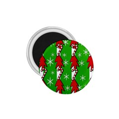 Christmas pattern - green 1.75  Magnets