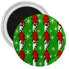 Christmas pattern - green 3  Magnets