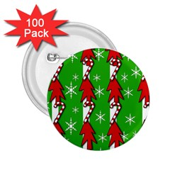 Christmas pattern - green 2.25  Buttons (100 pack)