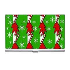 Christmas pattern - green Business Card Holders