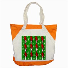 Christmas pattern - green Accent Tote Bag