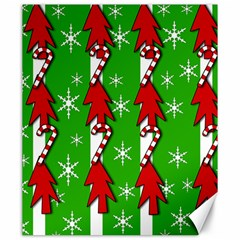 Christmas pattern - green Canvas 20  x 24