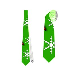 Christmas pattern - green Neckties (Two Side)