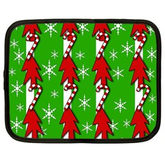 Christmas pattern - green Netbook Case (Large)