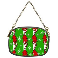 Christmas pattern - green Chain Purses (One Side)