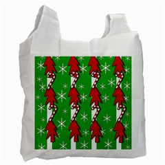 Christmas pattern - green Recycle Bag (Two Side)