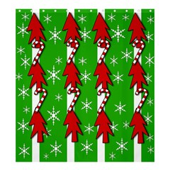 Christmas pattern - green Shower Curtain 66  x 72  (Large)