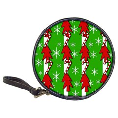 Christmas pattern - green Classic 20-CD Wallets