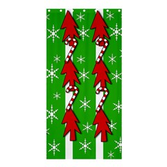 Christmas pattern - green Shower Curtain 36  x 72  (Stall)