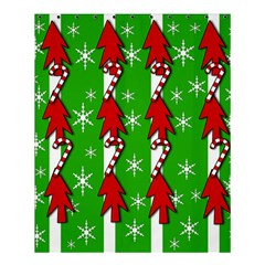 Christmas pattern - green Shower Curtain 60  x 72  (Medium)