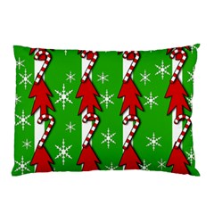 Christmas pattern - green Pillow Case (Two Sides)