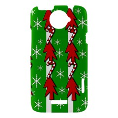 Christmas pattern - green HTC One X Hardshell Case