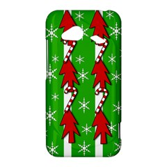 Christmas pattern - green HTC Droid Incredible 4G LTE Hardshell Case
