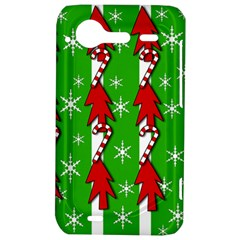 Christmas pattern - green HTC Incredible S Hardshell Case