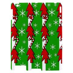 Christmas pattern - green Apple iPad 2 Hardshell Case
