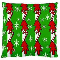 Christmas pattern - green Large Cushion Case (One Side)