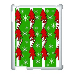 Christmas pattern - green Apple iPad 3/4 Case (White)
