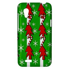 Christmas pattern - green HTC Desire VT (T328T) Hardshell Case
