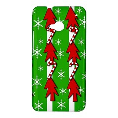 Christmas pattern - green HTC One M7 Hardshell Case