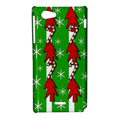 Christmas pattern - green Sony Xperia J